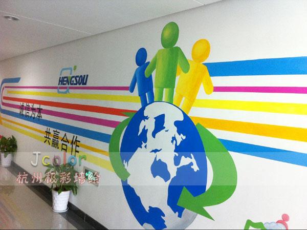 企业文化墙-极彩墙绘-极彩墙绘艺术工作室-杭州经济区