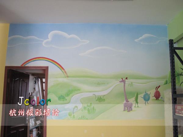 卡通手绘墙画