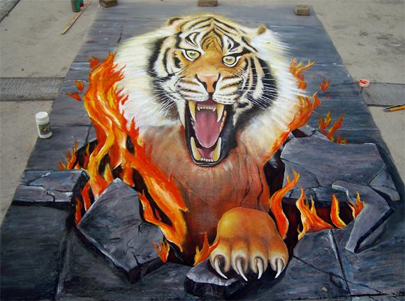 3d立体画--杭州墙绘公司-极彩墙绘艺术-极彩手绘艺术