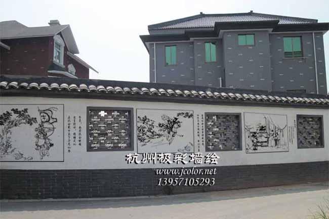 新农村文化墙案例2-极彩墙绘-极彩墙绘艺术工作室